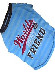 preiswerte -Hund T-shirt Hundekleidung Atmungsaktiv Blau/Grün Kostüm Für Haustiere