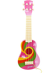 Plastic Pink Simulation Child Guitar for Children Above 8 Musical Instruments Toy
