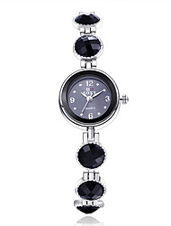 cheap -Women's Bracelet Watch Fashion Watch Quartz Hot Sale Alloy Band Flower Elegant Black