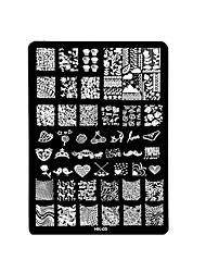 Недорогие -1шт ногтей печати квадратной стальной пластины