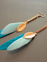 Women's Drop Earrings Fashion Bohemian Costume Jewelry Feather Alloy Leaf Feather Jewelry For Party Casual