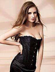 cheap -YUIYE® Women Sexy Lingerie Waist Training Corset Bustier Shapewear Plus Size Black White S-2XL Overbust Corset Cincher