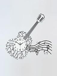 Квадратный / Новинки Модерн Настенные часы,Цветы и растения / Персонажи / Пейзаж / Музыка / Свадьба / Семья Стекло / Металл82cm x 38cm(