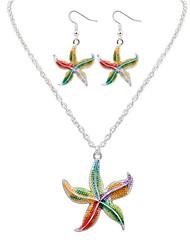 ieftine -Seturi de bijuterii Colier / cercei La modă Cute Stil European Coliere Σκουλαρίκια Pentru Petrecere Zilnic Casual 1set Cadouri de nunta