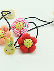cheap -Pumpkin Flowers Wood Double Rabbit Hair Sell Like Hot Cakes Han Edition Children Hair Accessories Color Mixed 10 PCS