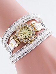 cheap -Women's Fashion Watch / Simulated Diamond Watch Casual Watch PU Band Charm Multi-Colored
