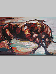 cheap -Large Hand Painted Modern Abstract Animal Bull Oil Painting On Canvas Wall Art Picture With Frame Ready To Hang