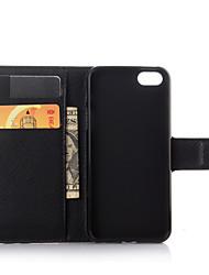 abordables -Coque Pour iPhone 7 Plus iPhone 7 iPhone 5 Apple Coque iPhone 5 Porte Carte Portefeuille Avec Support Clapet Coque Intégrale Couleur unie