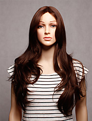 Capless Long Synthetic Brown Wavy Synthetic Womens Wig