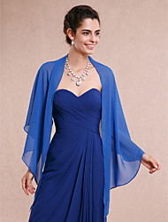 cheap -Sleeveless Chiffon Wedding Party Evening Women's Wrap Shawls