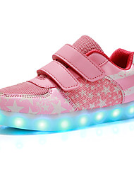 LED Light Up Shoes,Girls' Shoes Outdoor / Casual Comfort / Closed Toe Synthetic / Tulle Fashion Sneakers Pink / Navy