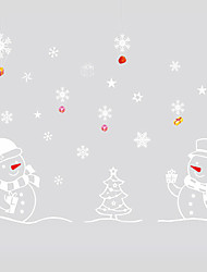 cheap -Wall Stickers Wall Decals Style Christmas Snowman PVC Wall Stickers