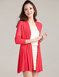 cheap -Women's Casual/Plus Sizes Stretchy Medium Long Sleeve Cardigan (Cotton/Knitwear)SF7E02