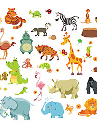 cheap -Wall Stickers Wall Decals Style Elephant Squirrel Paradise PVC Wall Stickers