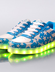 cheap -Men's / Women's Light Up Shoes Faux Leather Spring / Fall Light Up Shoes Red / Blue / Sparkling Glitter