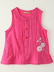 Mädchen Bluse-Ausgehen Druck Polyester Sommer Rot