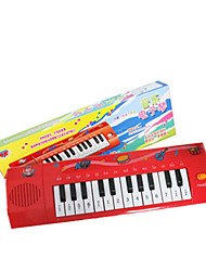 Plastic Red Simulation Child Keyboard for Children Above 3 Musical Instruments Toy