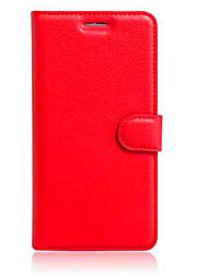 economico -Custodia Per Altro / Lenovo Custodia Lenovo A portafoglio / Porta-carte di credito / Con supporto Integrale Tinta unita Resistente pelle sintetica per