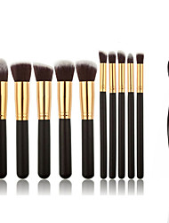 11 Makeup Brushes Set Eyeshadow Brush Blush Brush Concealer Brush Powder Brush Foundation Brush Nylon Professional Full Coverage Portable