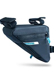 baratos -ROSWHEEL 1.2 L Bolsa para Quadro de Bicicleta / Saco de Quadro Triangular Á Prova de Humidade, Vestível, Resistente ao Choque Bolsa de Bicicleta PU Leather / 400D Nylon Bolsa de Bicicleta Bolsa de