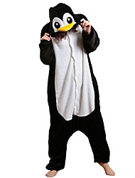 cheap -Kigurumi Pajamas Penguin Onesie Pajamas Costume Polar Fleece Black/White Cosplay For Adults' Animal Sleepwear Cartoon Halloween Festival