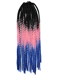 blue Crochet Dread Locks Hair Extensions 20inch Kanekalon 1 Strand 100g gram Hair Braids
