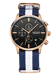Herren Kleideruhr Quartz Kalender / Stopuhr / Armbanduhren für den Alltag Stoff Band Weiß Marke