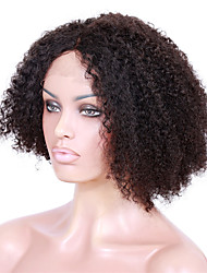 cheap -Human Hair Full Lace Lace Front Wig Kinky Curly 130% 150% 180% Density 100% Hand Tied African American Wig Natural Hairline Short Medium