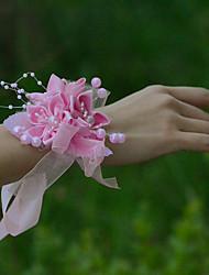"""Недорогие -Свадебные цветы Букетик на запястье Свадьба Вечеринка / ужин Тюль Satin 1,18""""(около 3см)"""