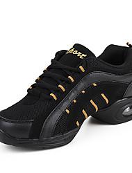Women's Dance Shoes Dance Sneakers Synthetic Low Heel White / Gold / Fuchsia