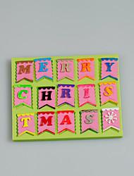 Merry christmas fondant moule en silicone pour gâteau décoration cupcake bonbon chocolat argile fimo résine couleur aléatoire