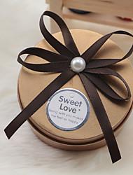 Porte-favoris en métal avec des rubans arc-cadeau boîtes-6 faveurs de mariage