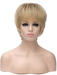 Fashion Ladies Short Blond Hair Synthetic Wigs
