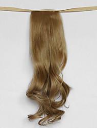 Недорогие -вода волна бежевый блондин синтетический тип повязка парик волос хвостик (цвет 27x)