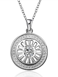 Daniel Wellington 925 sterling silver Round with Zircon multi medal pendant cremation jewelry