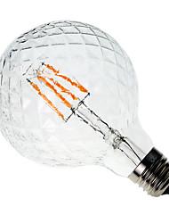 cheap -1pc 4W 300-350 lm E26/E27 LED Filament Bulbs G60 4 leds COB Decorative Warm White AC 220-240V