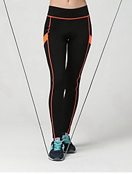 Women's Running Tights Gym Leggings Breathable Soft Compression smooth Bottoms for Exercise & Fitness Running Orange S M L XL