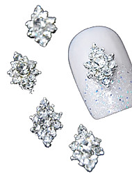 cheap -10pcs  3D Clear Rhinestone Diamond Flower DIY Accessories Alloy Nail Art Decoration