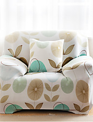 Modern 100% Cotton Sofa Cover , Stretch Floral / Botanical Print Slipcovers