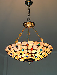 cheap -21 inch Retro Tiffany Pendant Lights Shell Shade Living Room Dining Room light Fixture