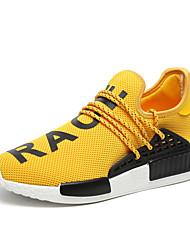 Masculino-Tênis-Conforto Solados com Luzes-Rasteiro-Preto Azul Amarelo Vermelho Branco-Tule-Ar-Livre Casual Para Esporte