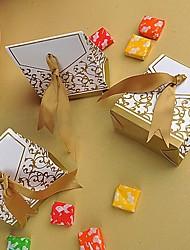 Недорогие -Пирамида Креатив Картон Фавор держатель с Узор Коробочки Мешочки Сувенирные шкатулки Конус для сувениров Пакеты для печенья Подарочные