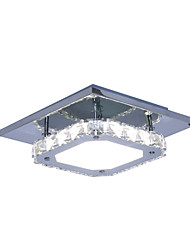 cheap -Modern/Contemporary Crystal / LED White Light Stainless Steel Crystal Ceiling Light Flush Mount Living Room / Hallway
