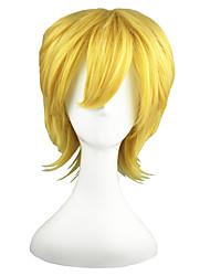billiga -Syntetiska peruker Rak Blond Syntetiskt hår Blond Peruk Utan lock Blond