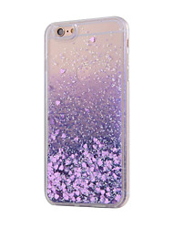 For iPhone X iPhone 8 iPhone 8 Plus iPhone 6 iPhone 6 Plus Case Cover Flowing Liquid Back Cover Case Glitter Shine Soft TPU for iPhone X