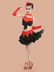 Shall We Latin Dance Outfits Children Dance Costumes