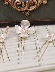Damen Plastik Kopfschmuck-Hochzeit Besondere Anlässe Freizeit im Freien Haarklammer 3 Stück