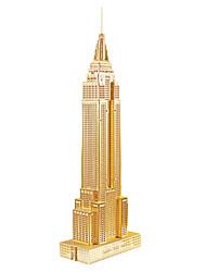 Недорогие -3D пазлы / Металлические пазлы / Наборы для моделирования Знаменитое здание / Здание Empire State Своими руками Металл Подарок
