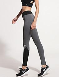 economico -Per donna Pantaloni da corsa Asciugatura rapida Traspirante Elasticizzato Compressione Calze/Collant/Cosciali Pantaloni Yoga Esercizi di