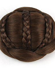 cheap -Kinky Curly Brown Europe Bride Human Hair Capless Wigs Chignons SP-189 2009